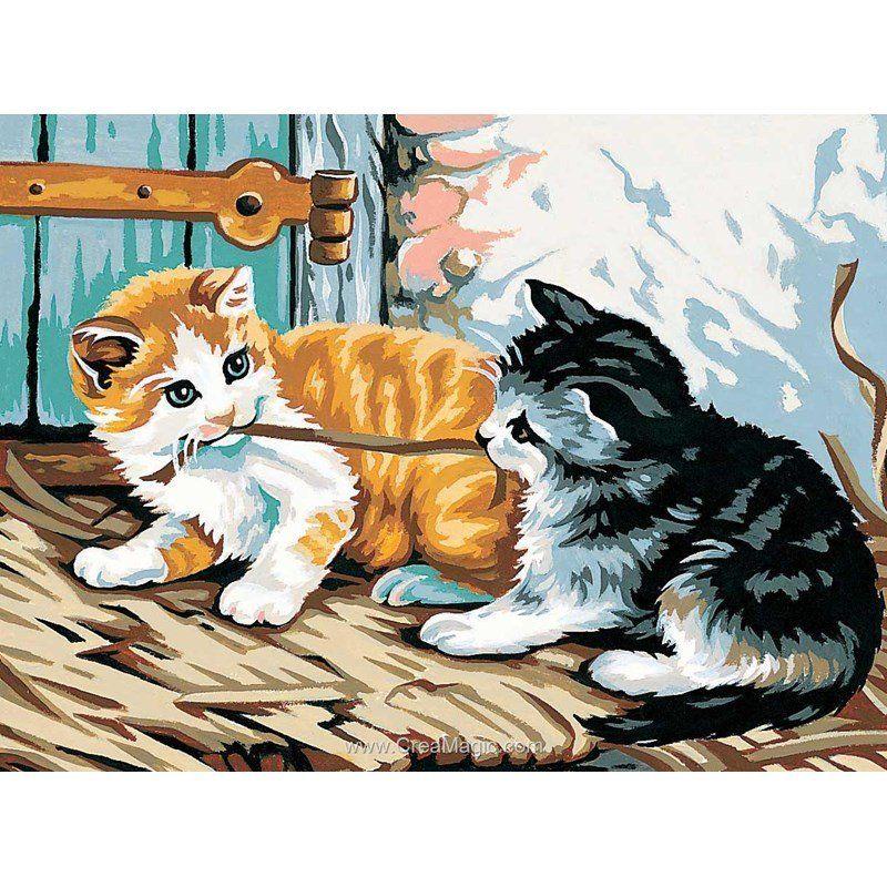 Regards malicieux canevas Margot en 2020 Peinture chat