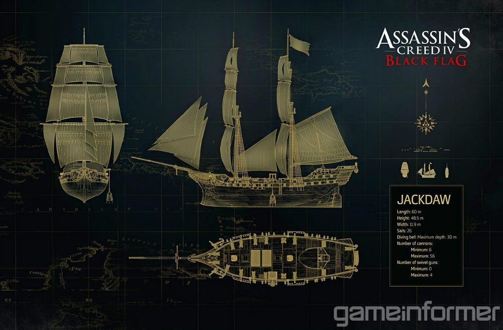 Assassin S Creed Iv Black Flag Jackdaw Ship By Dom098652 On