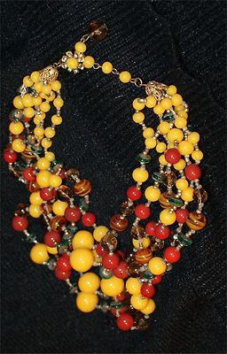 Miriam Haskell colorful fiesta necklace