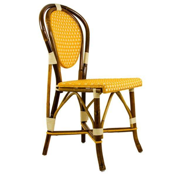 ochre & cream mediterranean bistro chair (b) | dine | pinterest