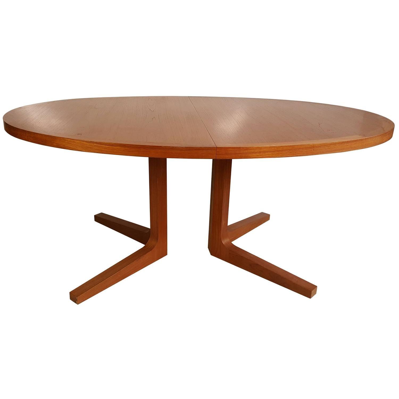 Danish Modern Expandable Teak Trestle Table, G-Plan, Denmark ...