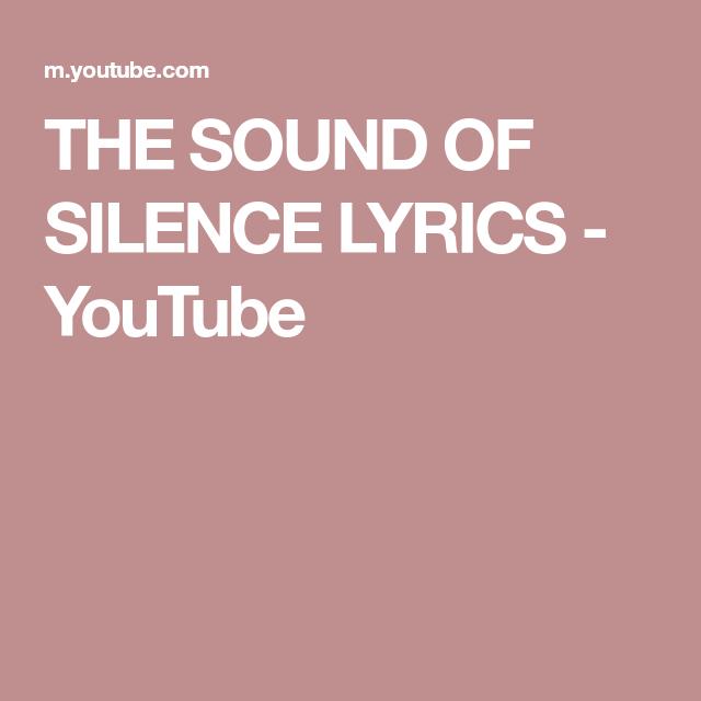 Ok Go The Writing S On The Wall Lyrics The Sound Of Silence Lyrics Youtube Sound Of Silence Lyrics