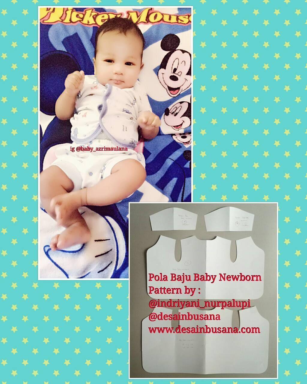 Jual Pola Baju Bayi Newborn Cara Mudah Jahit Baju Tanpa Ribet Buat Pola Tinggal Jiplak Ke Kain Lalu Gunting Sesuai Pola Whatsapp 081296 Bayi Jahit Baju Bayi