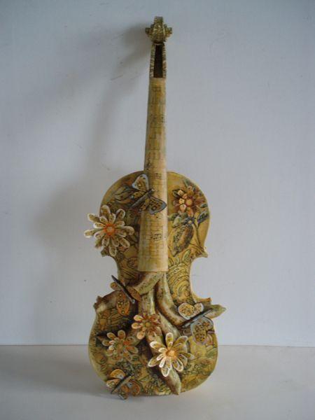 Marja Lianko   Artist   Sculpture. My Violin, 2009, mixed media, 8 in. x 24 in. x 3 in.