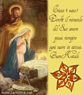 Frasi Religiose Per Natale.Buon Natale Religioso Con La Nascita Di Cristo Luoghi Da