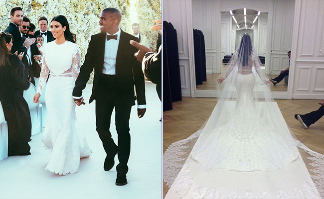 See Kim Kardashian S Givenchy Wedding Dress And Get The Look Kim Kardashian Wedding Dress Expensive Wedding Dress Kim Kardashian Wedding