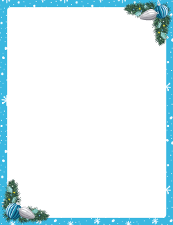 blue christmas border free