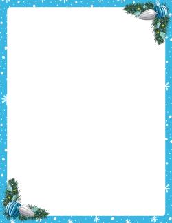 blue christmas border - Blue Christmas