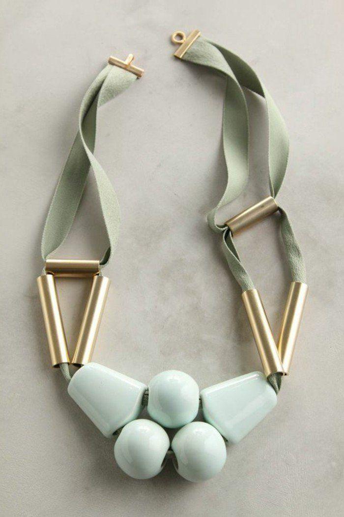 163c17dac2353 gros collier fantaisie en vert pâle, comment porter les bijoux originaux