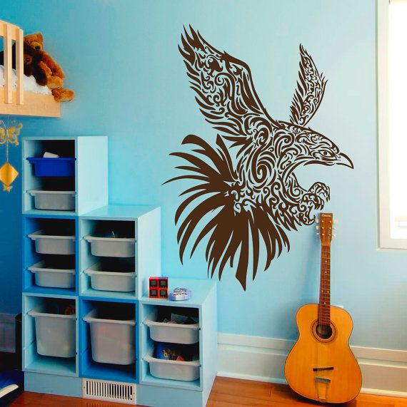 owl wall decals night bird flying vinyl by walldecalswithlove