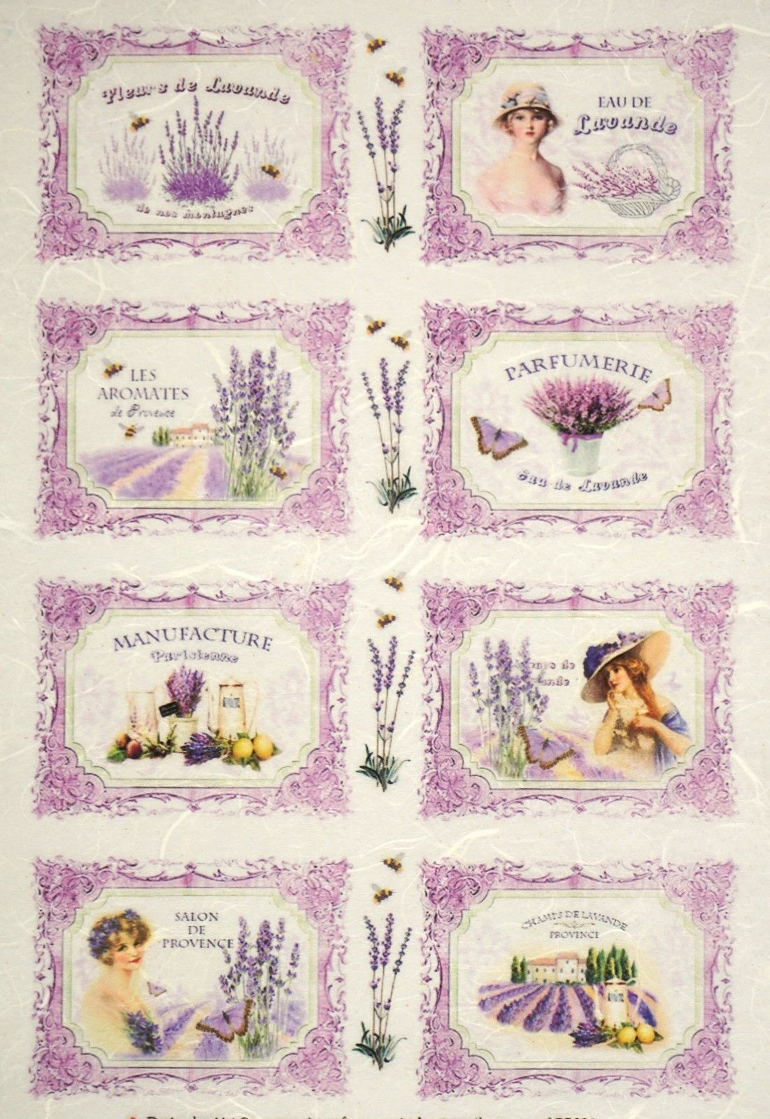 Craft Lavender/'s Letters Rice Paper for Decoupage Scrapbook Sheet