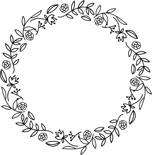 Related Image Floral Wreath Drawing Embroidery Flowers Pattern Wreath Drawing
