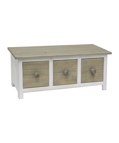 White Distressed Storage Unit/Bench