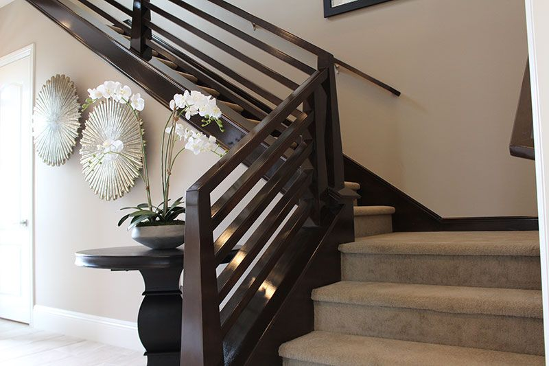 Contemporary Railings Hci Railing Systems Modern Stair Railing   Horizontal Wood Stair Railing   Wrought Iron   Cherry Wood   Steampunk   Rustic   Wooden