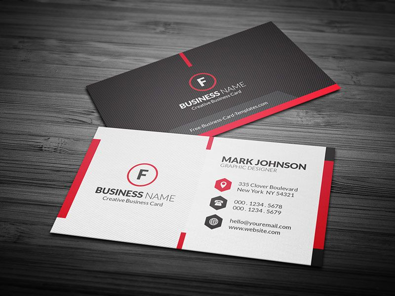 Free scarlet red creative corporate business card template vizitky free scarlet red creative corporate business card template reheart Choice Image