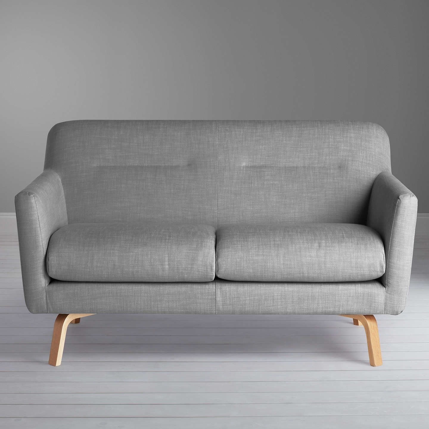 House By John Lewis Archie Ii Small 2 Seater Sofa Light Leg Saga Grey 2 Seater Sofa Sofa House By John Lewis