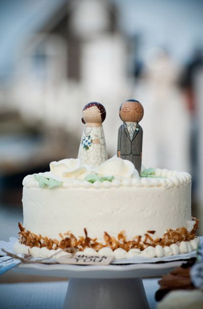 Wooden Cake Toppers Peg Doll Wedding Personalized By Goosegrease
