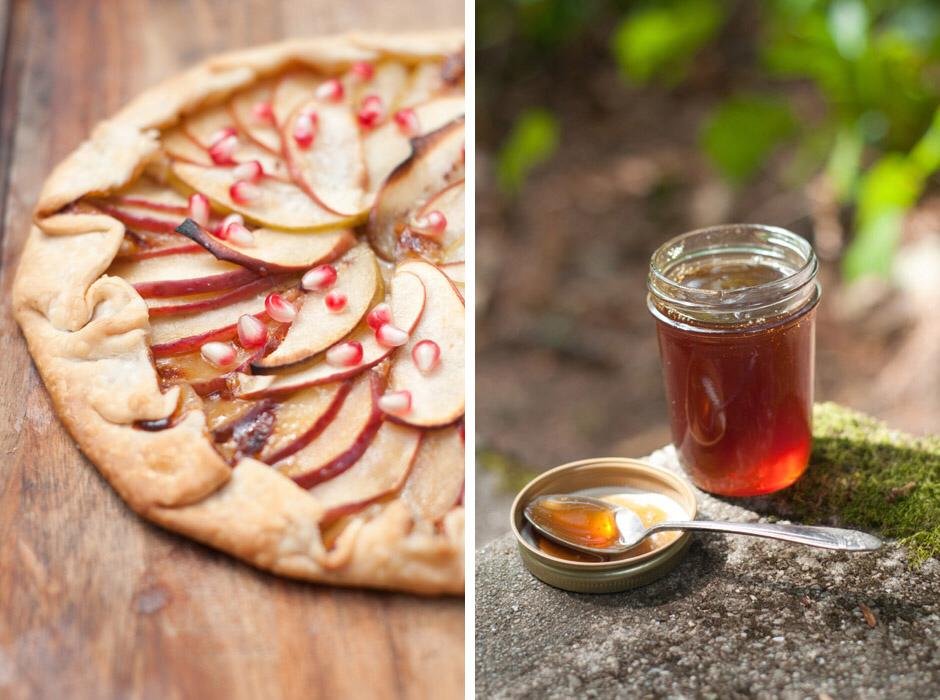 Forest Feast: Happy New Year! Rosh Hashana Apple + Honey Galette