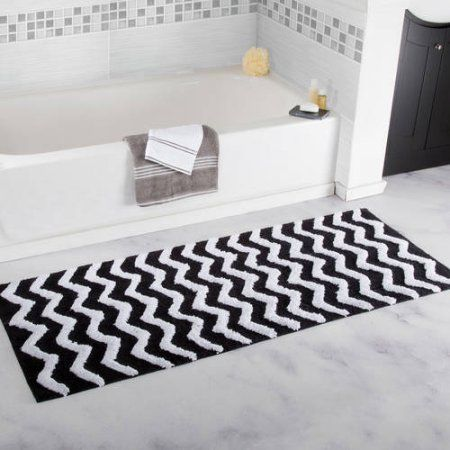 20 Gorgeous Black And White Bathroom Rugs Under 70 With Images