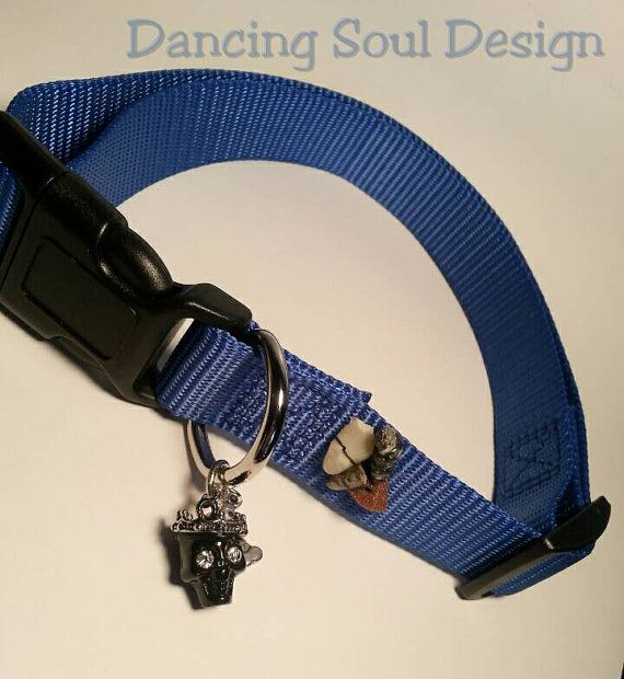 Check out this item in my Etsy shop https://www.etsy.com/listing/237222077/blue-large-pet-collar-large-dog-collar