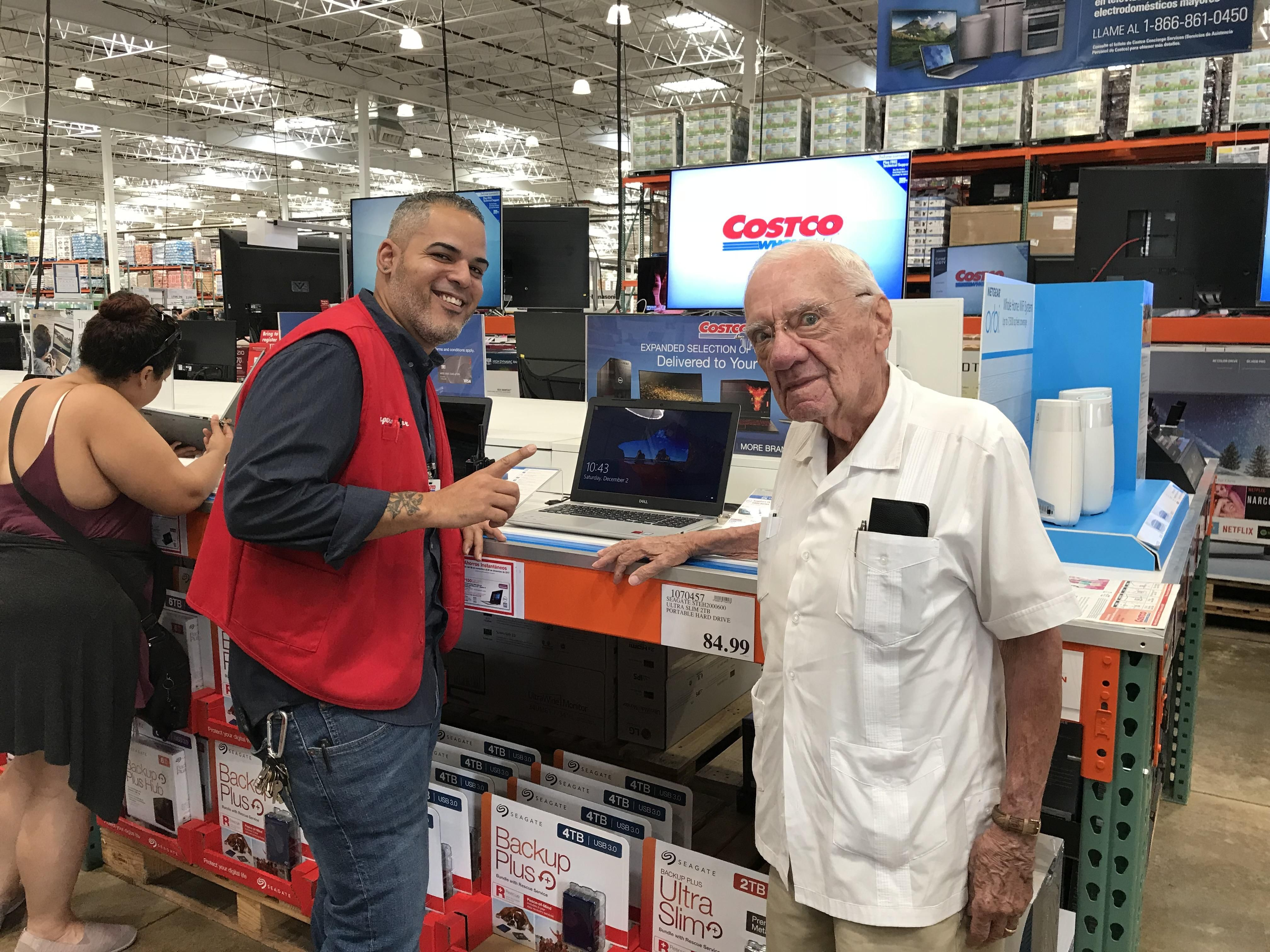Today I Took My Dad To Costco To Buy A Laptop For Him And The Costco Person Helping Us Recognized Him He Was A Patient Of His When He Was