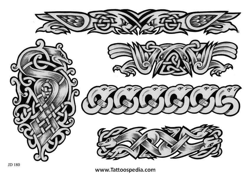 Viking Armband Tattoo Designs: Viking Bracelet Tattoo - The Bracelet Collections