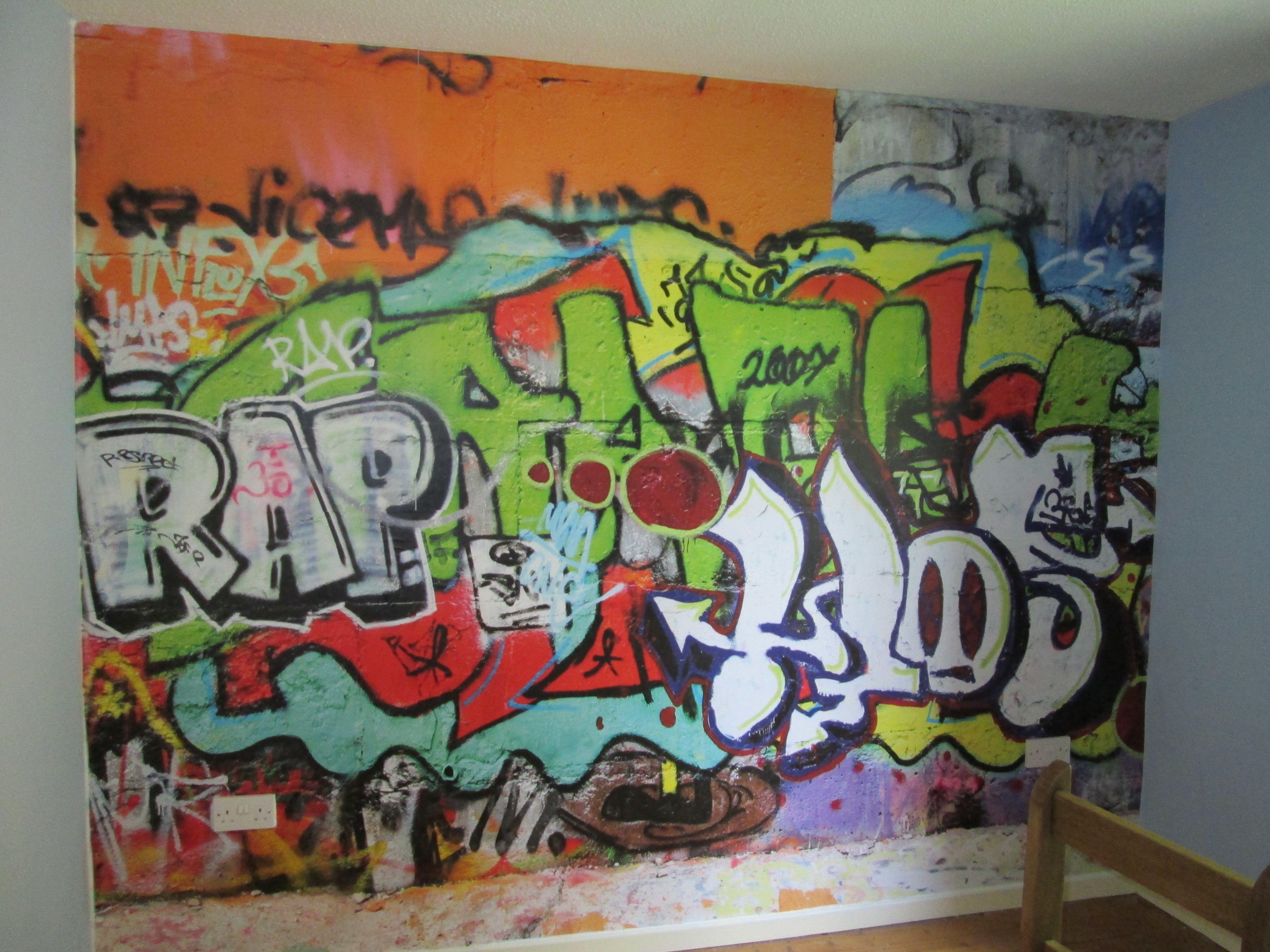 Murals for boys bedrooms - Graffiti Wall Mural For A Boys Bedroom