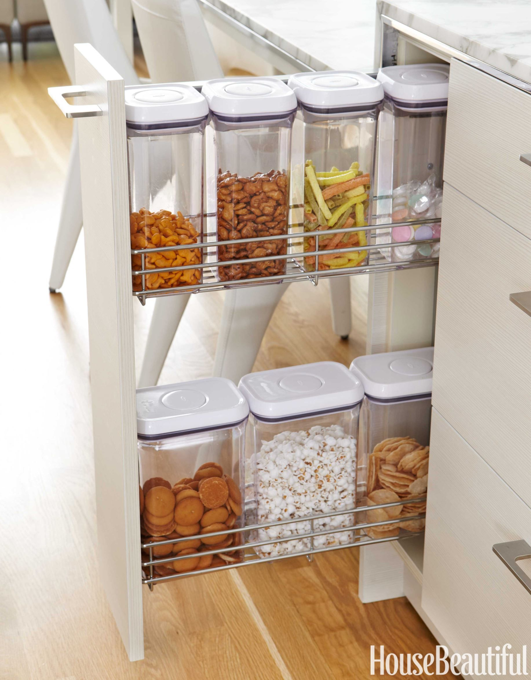 Tour an airy and bright kitchen kitchen pulls bright and storage jars