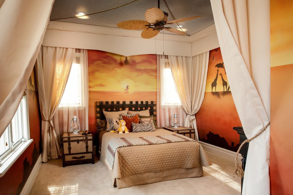 California King Bedroom Sets For Traditional Kids And Lion King Theme