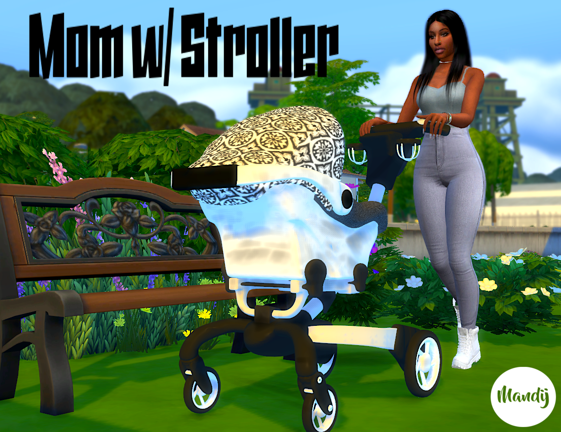 Sims 4 Toddler Stroller Mod Mom W Stroller Pose Pack Includes 8 Single Poses Check It
