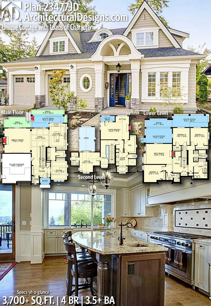 Architectural Designs New American Home Plan 23477JDgives you 4 bedrooms, 3.5+ baths and 3,+700+ sq. ft. Ready when you are! Where do YOU want to build? #23477JD #adhouseplans #architecturaldesigns #houseplans #architecture #newhome #newamerican #newconstruction #newhouse #homeplans #architecture #home #homesweethome