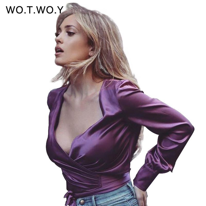 e860646ce0eb2 Image result for purple satin blouse