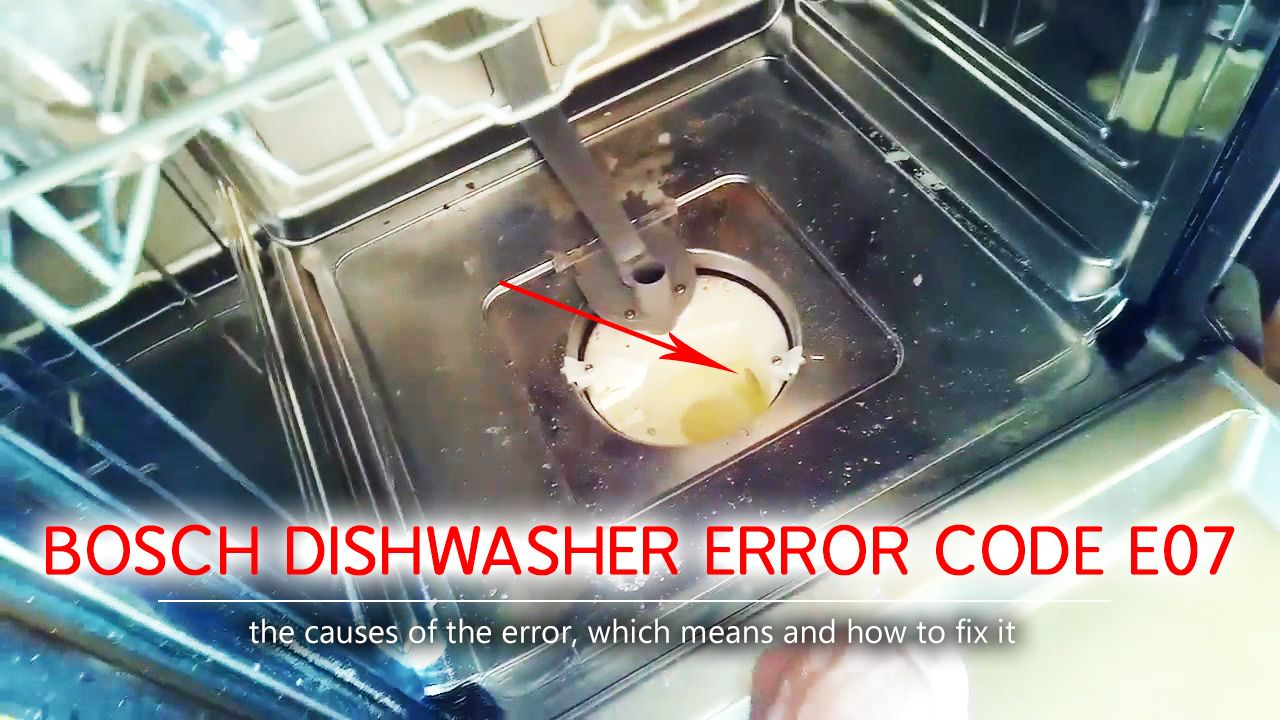 Bosch Dishwasher Error Code E07 What Does The E07 In The Bosch Dishwasher Mean A Hole That Is Designed To Pump Water From Bosch Dishwashers Bosch Dishwasher