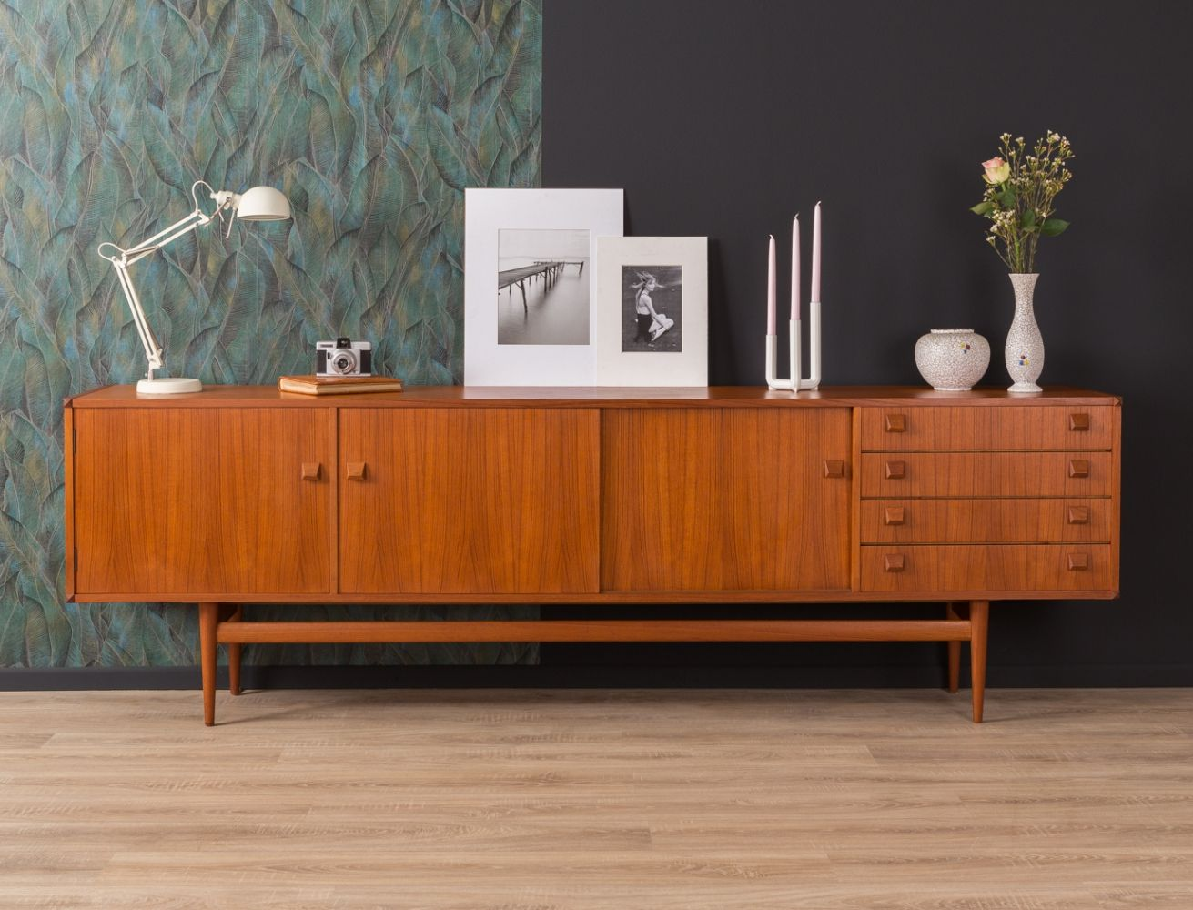 For Sale German Sideboard By Musterring From The 1950s Vintage Cabinets Mid Century Sideboard Furniture