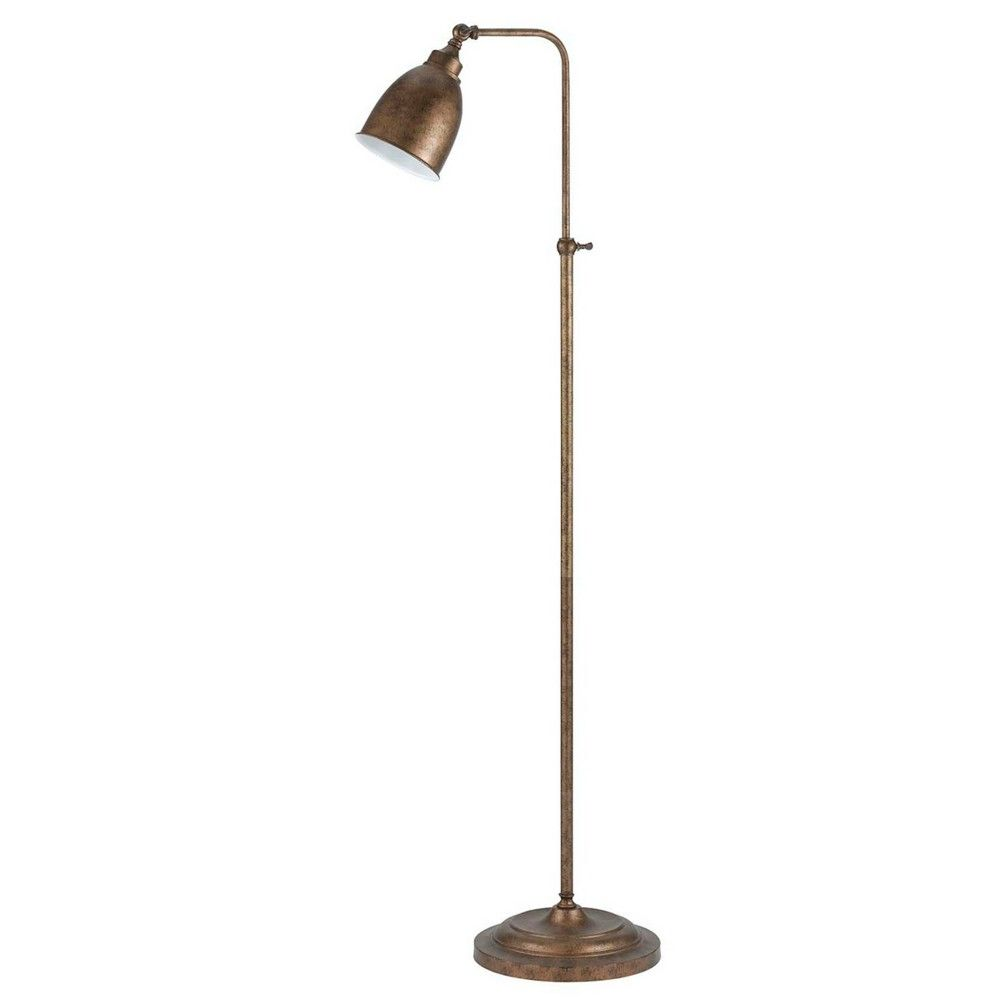 46 X 62 Adjustable Height Metal Floor Lamp Rust Finish Cal Lighting Metal Floor Lamps Pharmacy Floor Lamp Floor Lamp