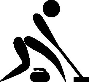 olympic sports curling black white pictogram clip art via clker rh pinterest com au winter olympics clip art free winter olympic clip art