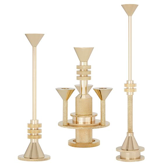 Cog Candelabra And Candleholders From Tom Dixon Dering Hall Luminaire