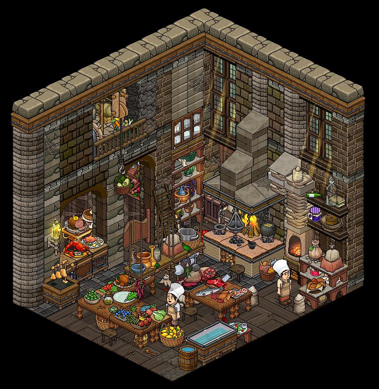 Medieval Kitchen By Https Www Deviantart Com Cutiezor On Deviantart Pixel Art Background Pixel Art Tutorial Pixel Art Design