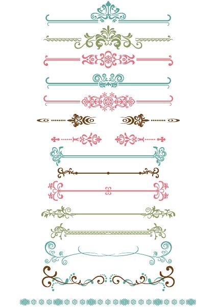 飾り枠 飾り罫 大人かわいいヨーロピアン飾り 無料ベクター Dotsdomino Hand Lettering Design Crafts Wedding Album Design