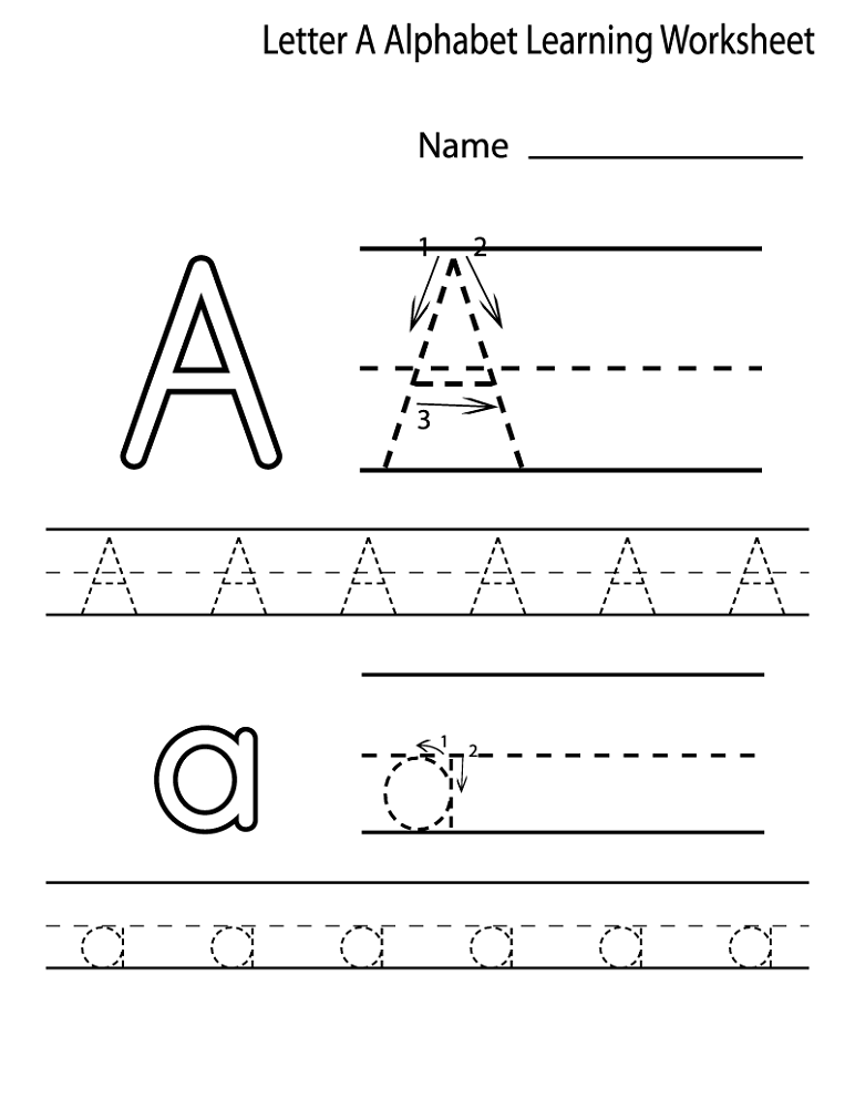 alphabet worksheets for preschoolers letter A | Alphabet and Numbers ...