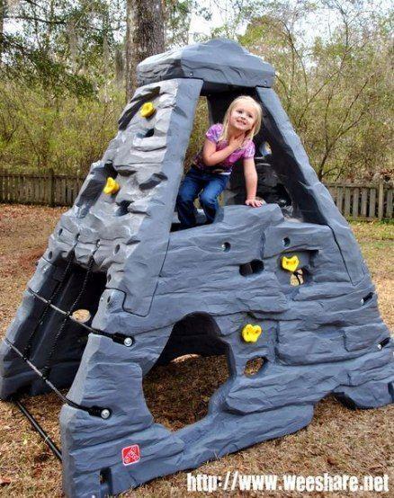 Super Backyard Kids Treehouse Climbing Wall 27 Ideas #backyard #wall