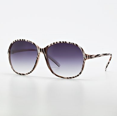 purple lenses and zebra frame