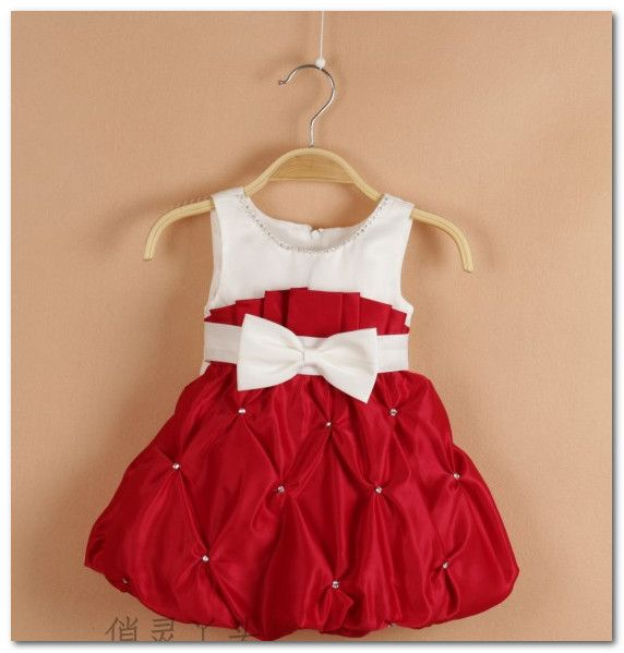Baby Christmas party dress toddler girl Beaded Bowknot Frilly tutu ...