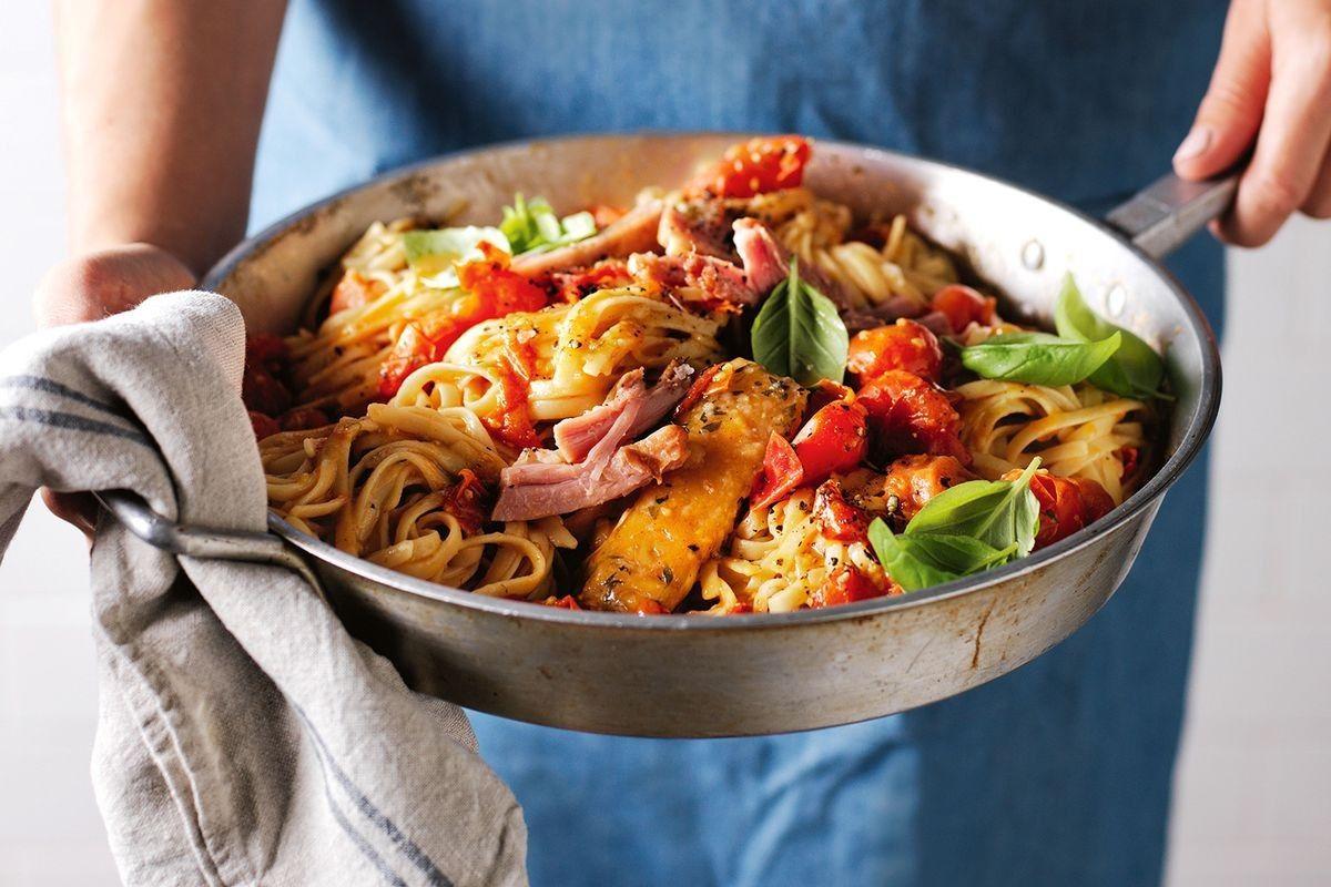 One Pan No Chop Pasta Recipe Lunch Recipes Salad Recipes Pasta