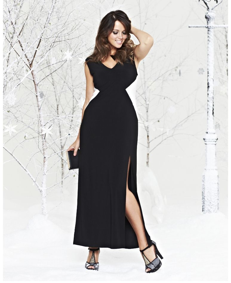 Truly Wow Plus Size Maxi Dress With Side Panels At Simply Be Plus