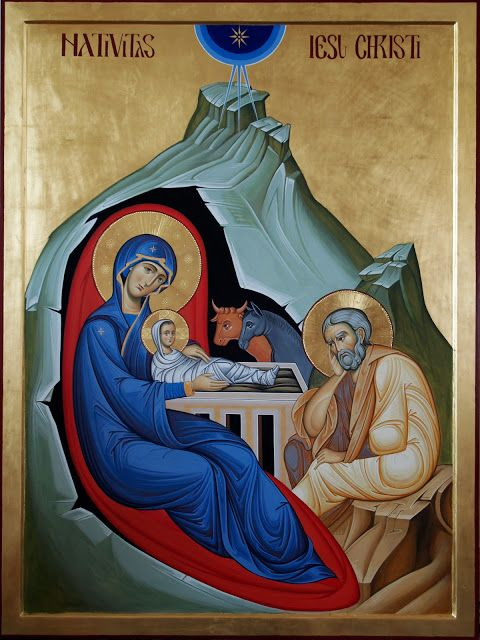 Studio Icona Sacra Famiglia Nella Natività Giuliano Melzi