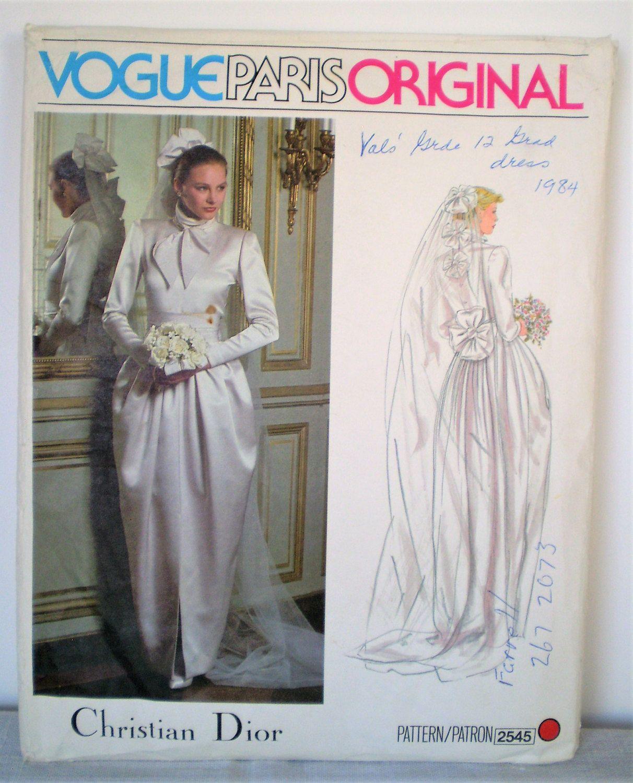 Retro 1970s Paris Original Christian Dior Wedding Dress