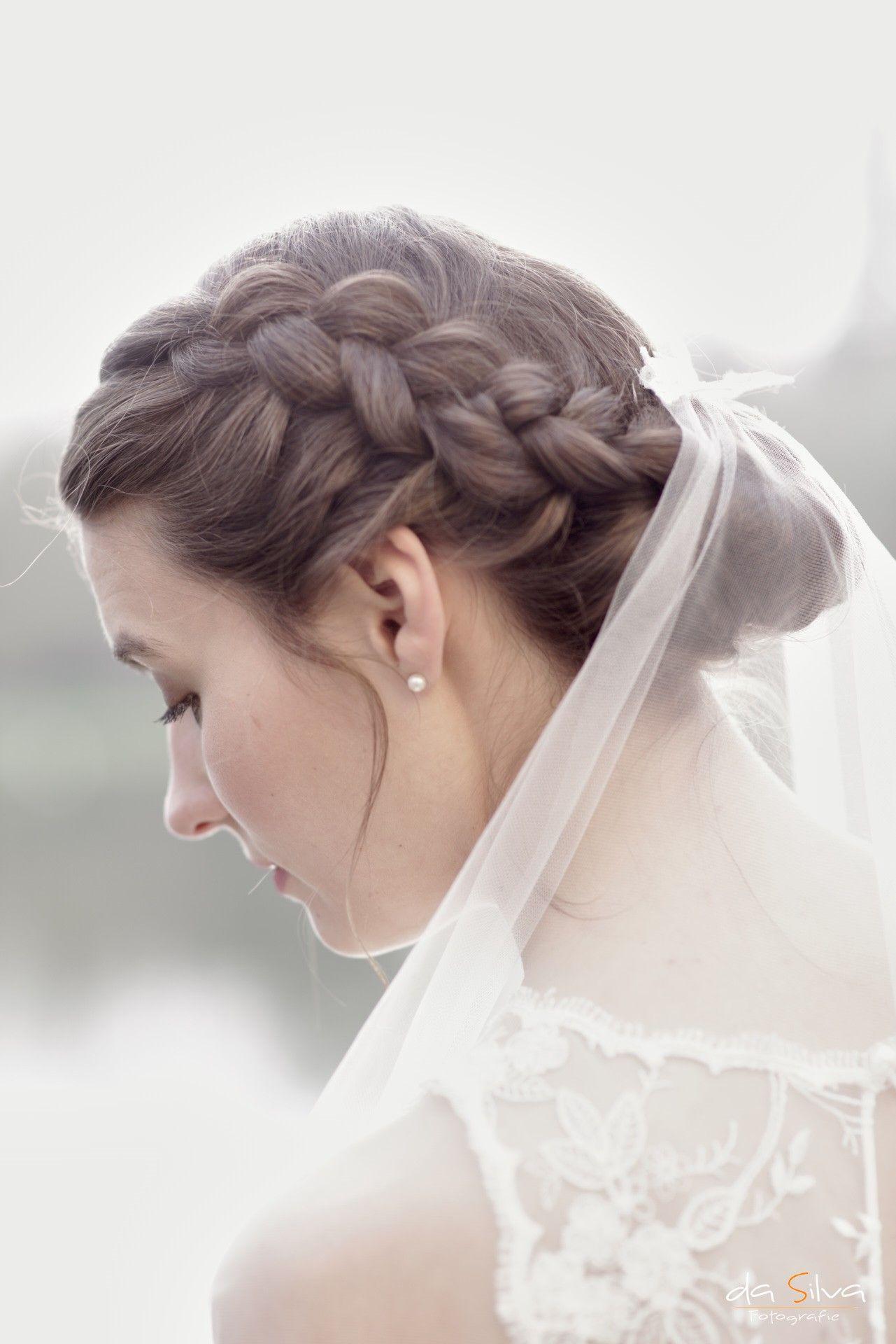 Wedding Hochzeit Vintage Schleier Frisur Hair Geflochten Locker