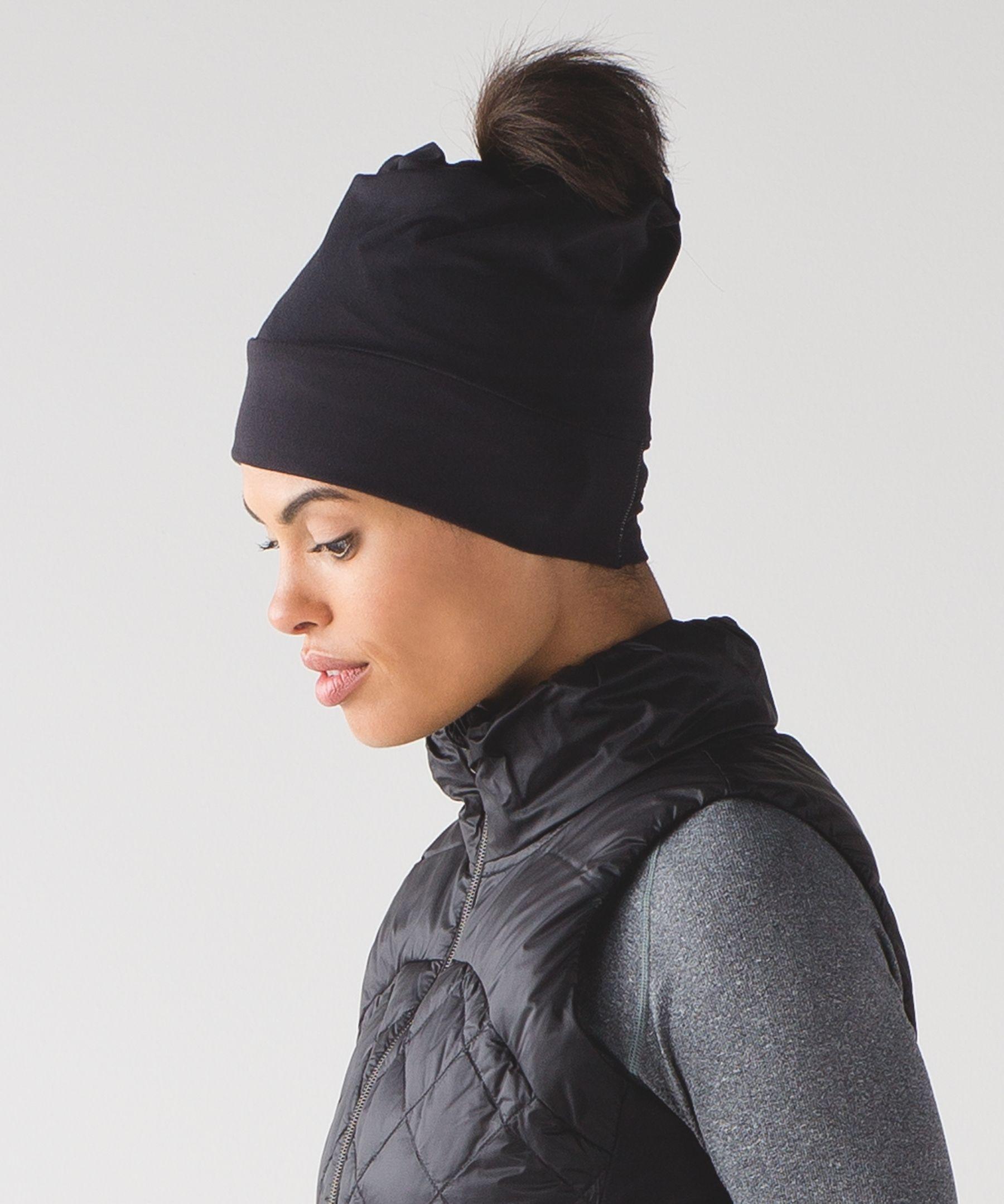 6cc58d44799 Women s Beanie Hat - (Black) - Top Knot Toque - lululemon