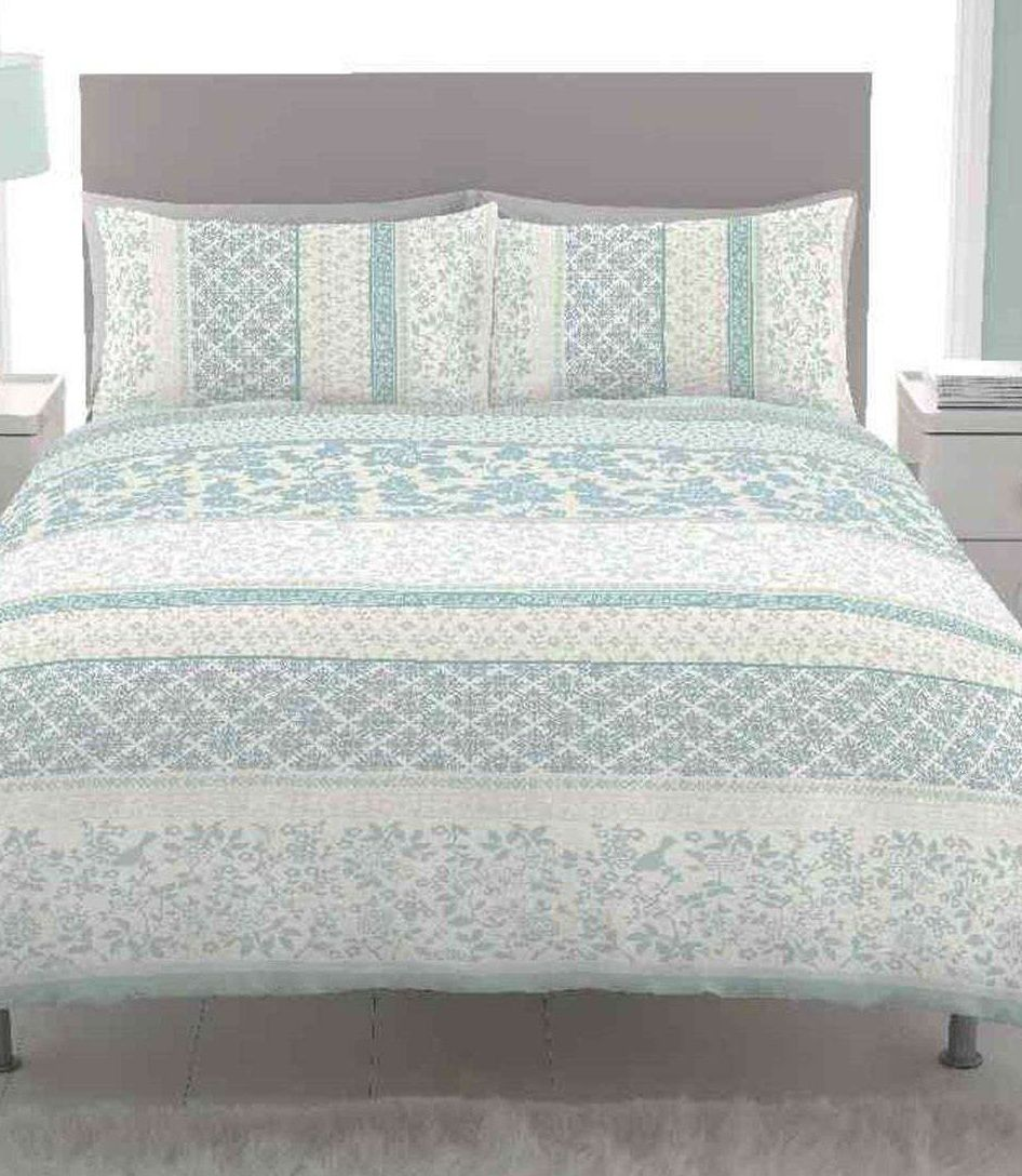 Catherine Lansfield Orinoco Duck Egg Bedding Set Next Day Delivery From Worlds Everything For The